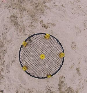 Spikeball - A Spikeball net and ball