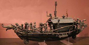 Spirit ship (tiweh), Borneo, Bentian Dayak, Honolulu Museum of Art.JPG