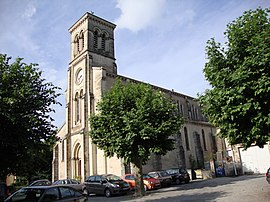 The church in Saint-Fortunat-sur-Eyrieux