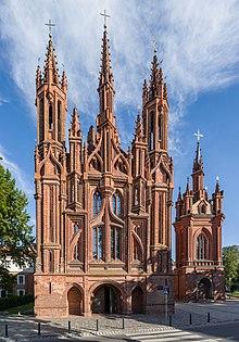 St Annes Vilnius Lithuania 1500