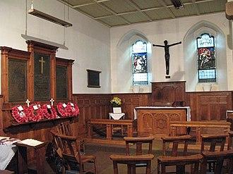 St Martin's Church, Brampton - Soldiers' Chapel