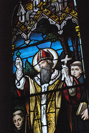St. Patrick preaches to the Celtic High King o...