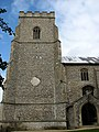 St Mary's church, North Creake, Norfolk - porch and tower - geograph.org.uk - 941662.jpg
