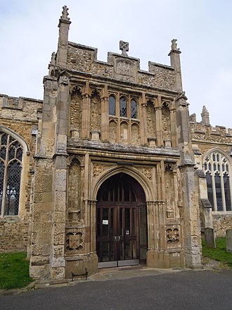 St Mary's Church, Hitchin - Image: St Marys Hitchin Porch