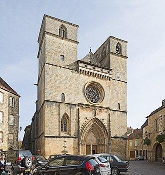 Gourdon, Lot - Image: St Pierre de Gourdon (Lot) Façace