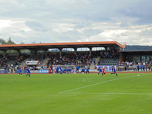 Op Flohr Stadion - Stade Op Flohr, only stand