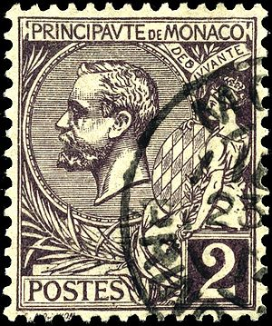 Postage stamps and postal history of Monaco - 1891 issued 2 centieme stamp