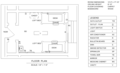Standard double dorm room, Floor plan of the University of Iowa Currier Hall.png