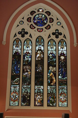 St Mary Star of the Sea, West Melbourne - A stained glass windows at St Mary's