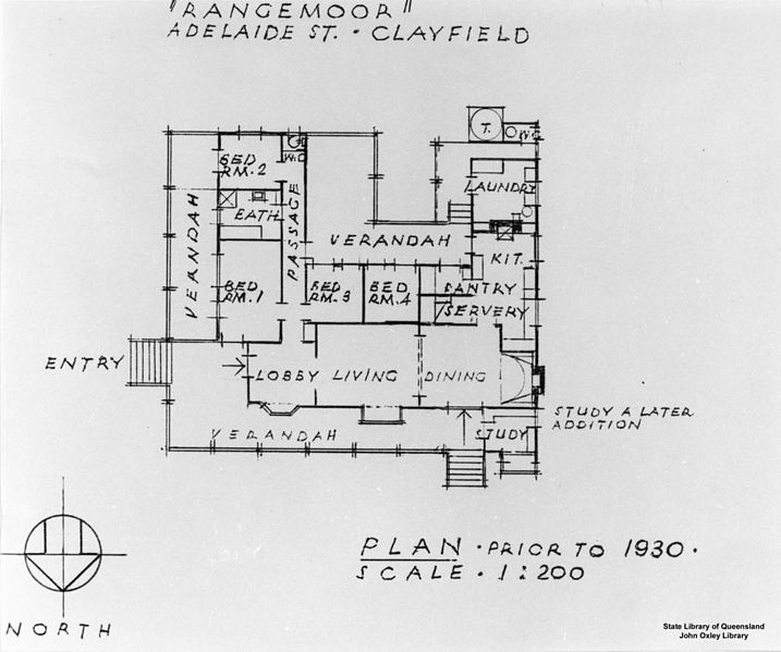 Architectural Drawing Scale file:statelibqld 1 120300 architectural drawing of the house