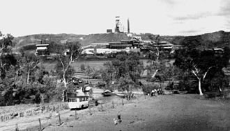Mount Isa Mines - The Mount Isa Mines surface works as seen from the east bank of the Leichhardt River in 1932.