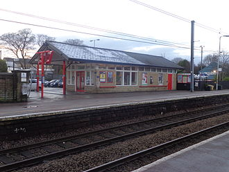 Guiseley railway station - The 2002 waiting room and ticket office.