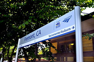 Fremont station - Station sign of Fremont station