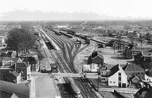 Winterswijk railway station - Image: Station winterswijk 1950