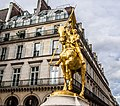 Statue of Jeanne d'Arc in Paris, Place des Pyramides, May 2013.jpg