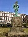 """Statue of composer Edvard Grieg by Ingebrikt Vik (1917) in Byparken (""""City park"""") in Bergen, Norway. Also """"telegrafen"""". Photo 2018-03-15 b.jpg"""