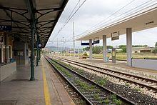 Piazzale binari della stazione