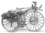 Drawing of a steam powered tricycle