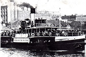 Merksworth (1874) - The Steamship Manly II that collided with the Merksworth