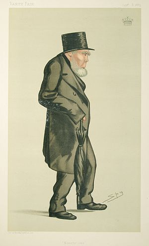 Stephen Moore, 3rd Earl Mount Cashell - Caricature by Spy published in Vanity Fair in 1883.