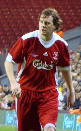 McManaman at a memorial match for Liverpool in 2009. Steve McManaman 2009.jpg