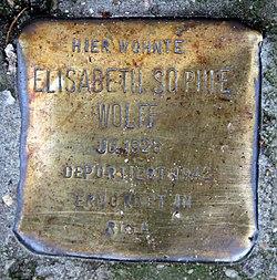 Photo of Elisabeth Sophie Wolff brass plaque