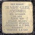 Stolperstein Sächsische Str 62 (Wilmd) Marie-Louise Ackermann.jpg