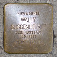 Stolperstein für Wally Guggenheimer (1889) in Memmingen.jpg