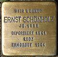 Stumbling block for Ernst Schönholz (Mauritiussteinweg 81)