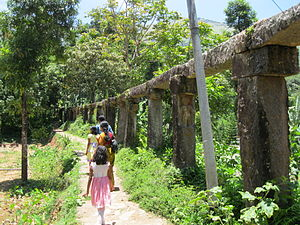 Thirunelly - Stone Pipeline at Thirunelly