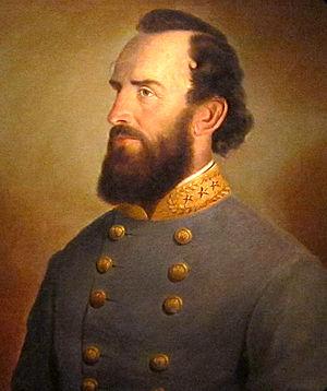 A portrait of Stonewall Jackson (1864, J. W. K...