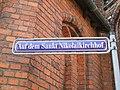 Stralsund, Germany, Nikolaikirche, Straßenschild Auf dem Nikolaikirchhof (2006-09-29).JPG