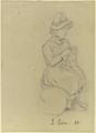 Strickendes Mädchen mit Hut (SM 15623z).png