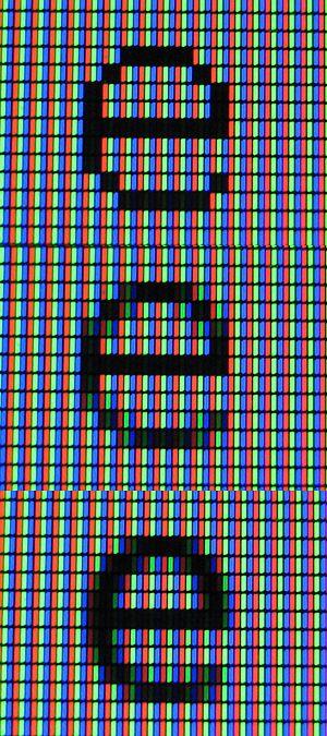 Subpixel rendering - Image: Subpixel rendering LCD photo 3e composite