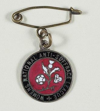 Women's National Anti-Suffrage League - Women's National Anti-Suffrage League badge