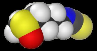 Sulforaphane - Image: Sulforaphane 3D vd W