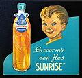 Sunrise vruchten limonade Sinaasappel kartonnen toonbank reklame bord.JPG