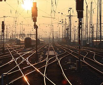 Railroad switch - Large stations may have hundreds of normal and double switches (Frankfurt am Main Central Station).