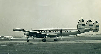 KLM Flight 844 - A KLM L-1049 similar to the one involved in the crash.