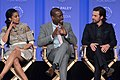 Susan Kelechi Watson, Sterling K. Brown, and Milo Ventimiglia PaleyFest 2017 2 (34663064835).jpg
