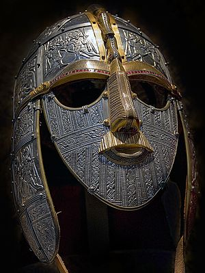 Replica of the helmet from the Sutton Hoo ship-burial