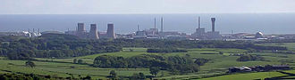 Sellafield - View west of the facility, with the Irish Sea in the background