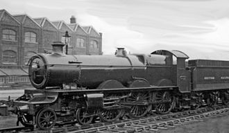 GWR 4000 Class - No. 4025 - after the name Italian Monarch was removed in 1940