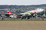 "Swiss International Air Lines Airbus A340-313 HB-JMJ "" ""San Francisco"" special livery"" (21468901749).jpg"