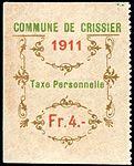 Switzerland Crissier 1911 revenue 4Fr - 8.jpg