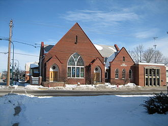 Churches in Sycamore Historic District - First Baptist Church.