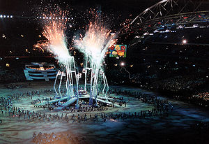 "2000 Summer Olympics opening ceremony - ""A New Era and Eternity"" segment during the ceremony."
