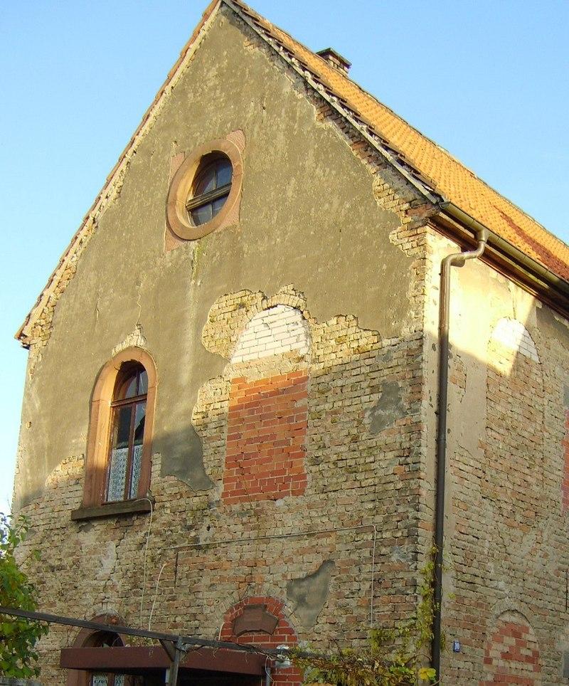 Ehemalige Synagoge Roxheim (2008), heute zerstört