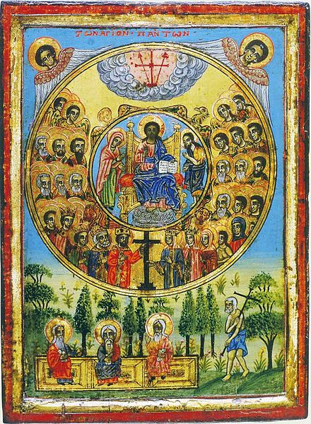 Synaxis of all saints (Greece, 19 c.) dans images sacrée