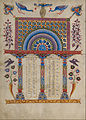 T'oros Roslin (Armenian, active 1256 - 1268) - Canon Table Page - Google Art Project (6915047).jpg